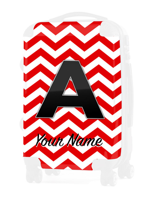 """Red Chevron - Graphic Insert for 24"""" Check-in Luggage"""
