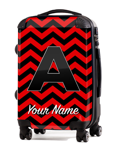 """Red-Black Chevron - 20"""" Carry-On Luggage"""