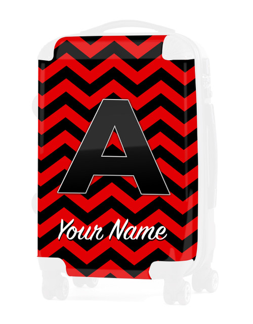 """Red-Black Chevron - Graphic Insert for 24"""" Check-in Luggage"""