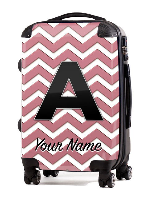 """Rose Gold Chevron - 20"""" Carry-On Luggage"""
