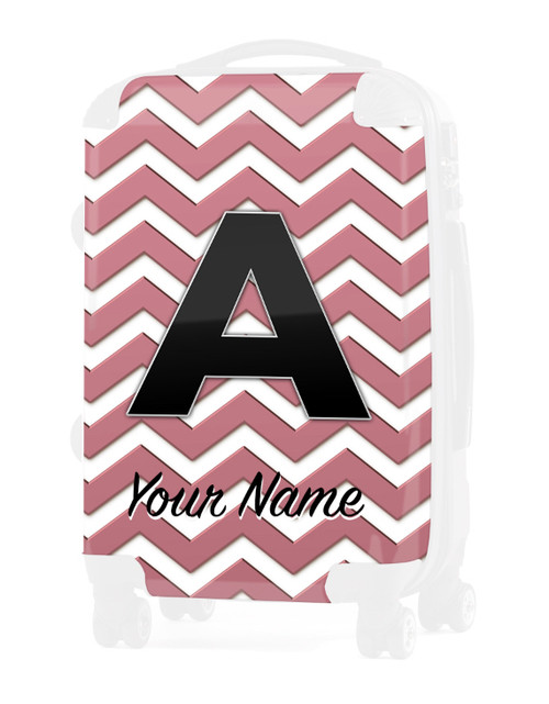 """Rose Gold Chevron - Graphic Insert for 24"""" Check-in Luggage"""