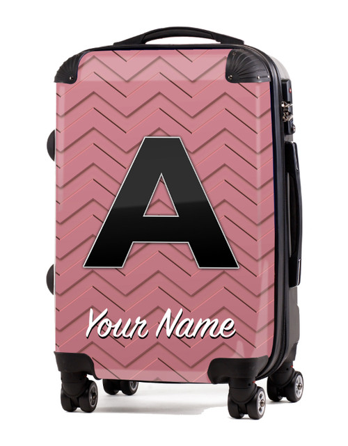 """Rose Gold-Rose Chevron - 20"""" Carry-On Luggage"""