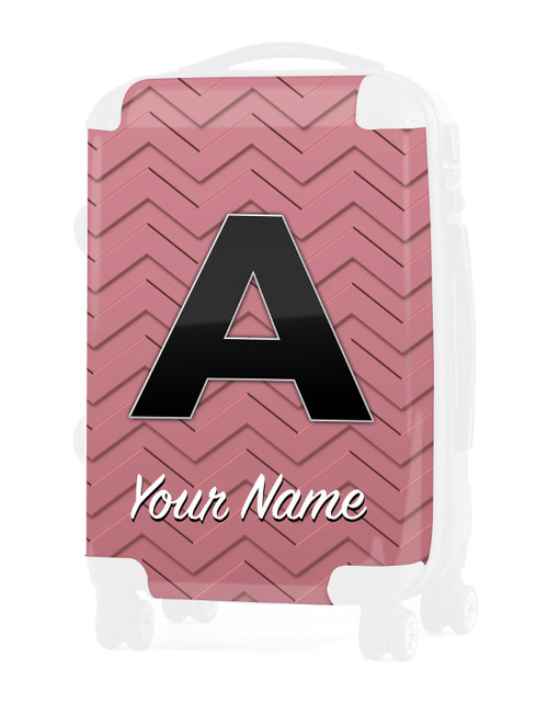 """Rose Gold-Rose Chevron - Graphic Insert for 24"""" Check-in Luggage"""