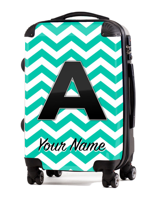 """Teal Chevron - 20"""" Carry-On Luggage"""