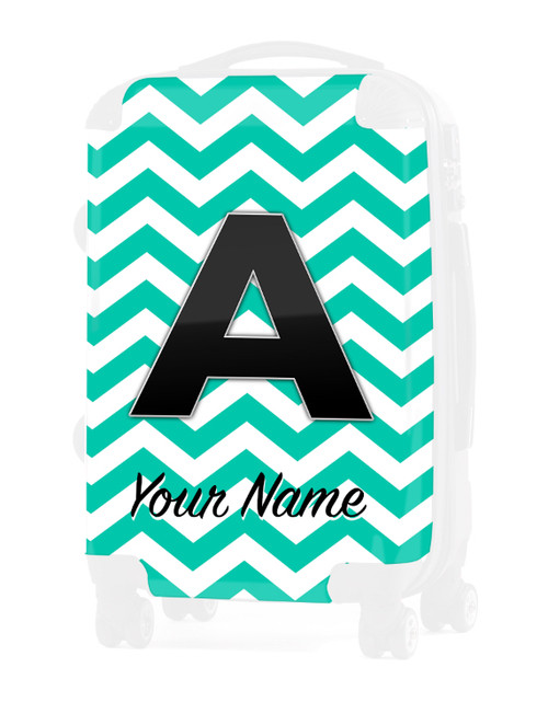 """Teal Chevron - Graphic Insert for 24"""" Check-in Luggage"""