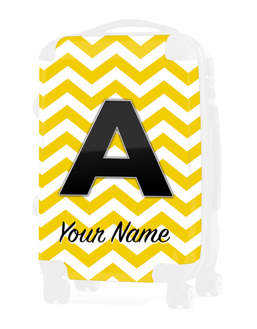 """Yellow Chevron - Graphic Insert for 20"""" Carry-on Luggage"""