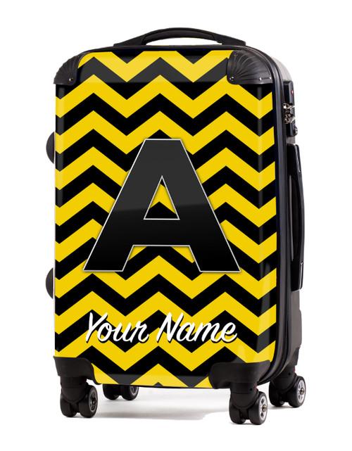 "Yellow-Black Chevron - 20"" Carry-On Luggage"