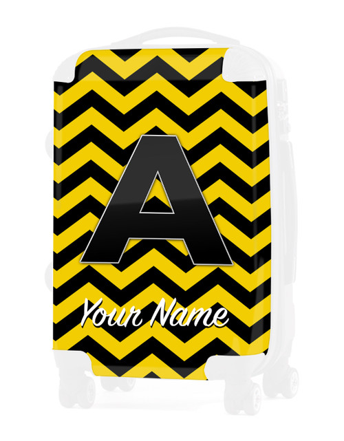 """Yellow-Black Chevron - Graphic Insert for 24"""" Check-in Luggage"""