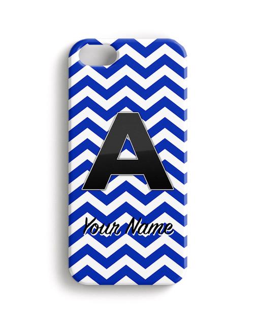 Blue Chevron - Phone Snap on Case