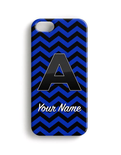 Blue-Black Chevron - Phone Snap on Case