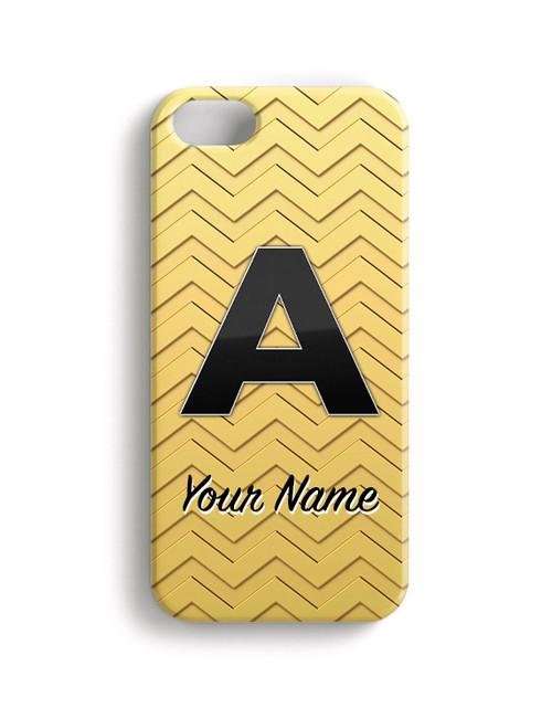 Gold-Gold Chevron - Phone Snap on Case
