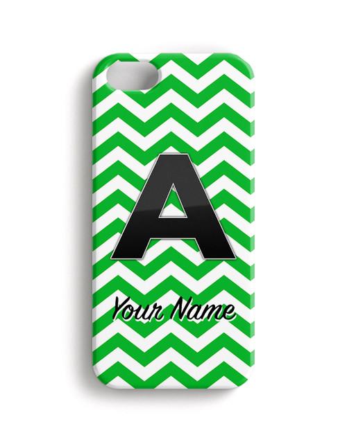 Green-Black Chevron - Phone Snap on Case