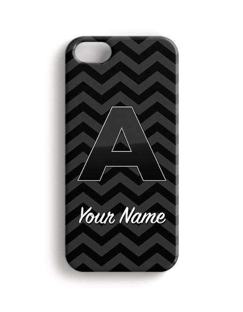 Grey-Black Chevron - Phone Snap on Case