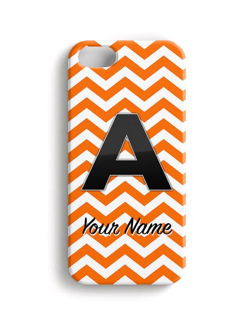 Orange Chevron - Phone Snap on Case