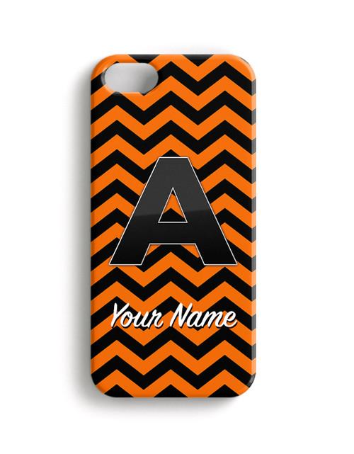 Orange-Black Chevron - Phone Snap on Case