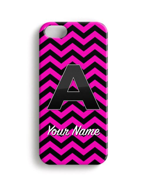 Pink-Black Chevron - Phone Snap on Case