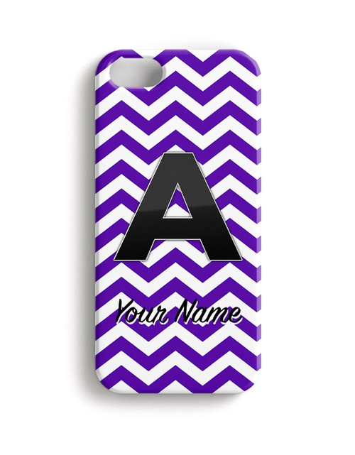 Purple Chevron - Phone Snap on Case