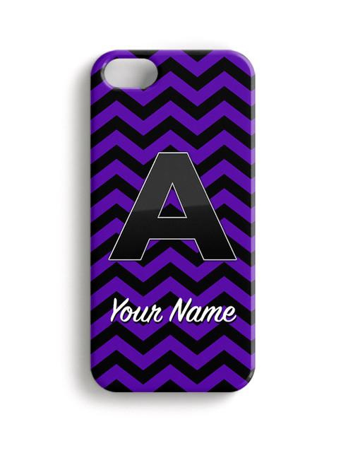 Purple Black Chevron - Phone Snap on Case