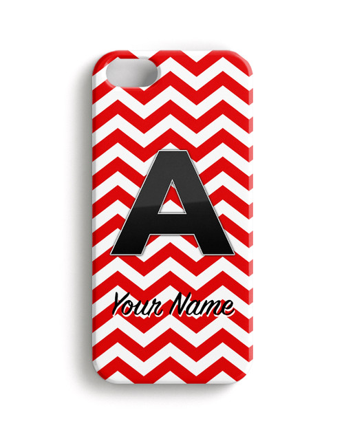 Red Chevron - Phone Snap on Case