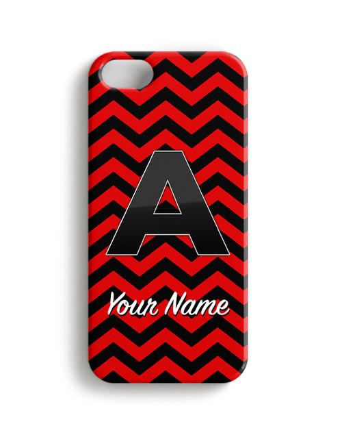 Red-Black Chevron - Phone Snap on Case
