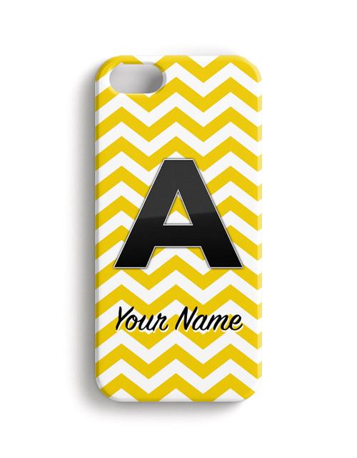 Yellow Chevron - Phone Snap on Case
