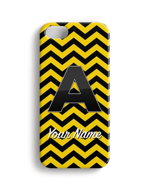 Yellow-Black Chevron - Phone Snap on Case