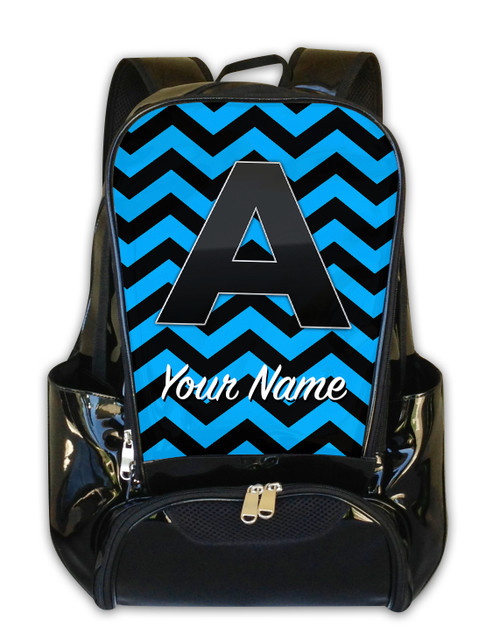 Baby Blue Chevron - Personalized Backpack