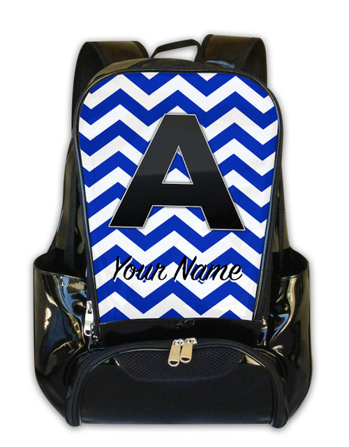 Blue Chevron - Personalized Backpack