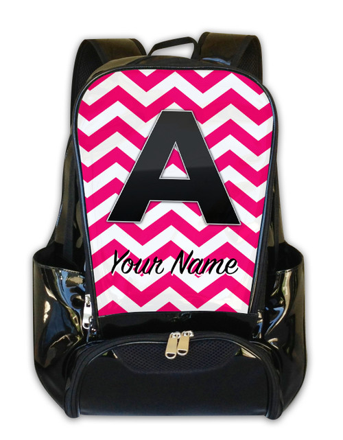 Fuschia Chevron - Personalized Backpack