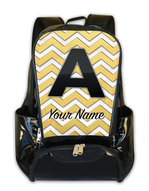 Gold Chevron - Personalized Backpack