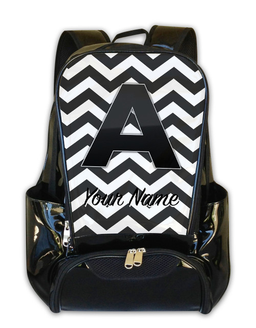 Grey Chevron - Personalized Backpack