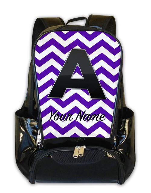 Purple Chevron - Personalized Backpack