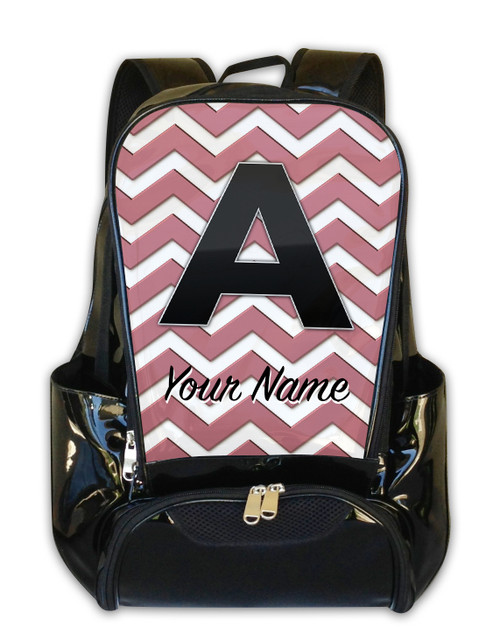 Rose Gold Chevron - Personalized Backpack