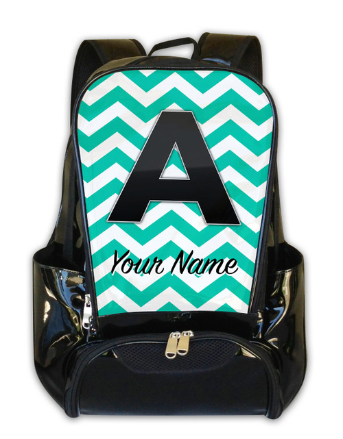 Teal Chevron - Personalized Backpack