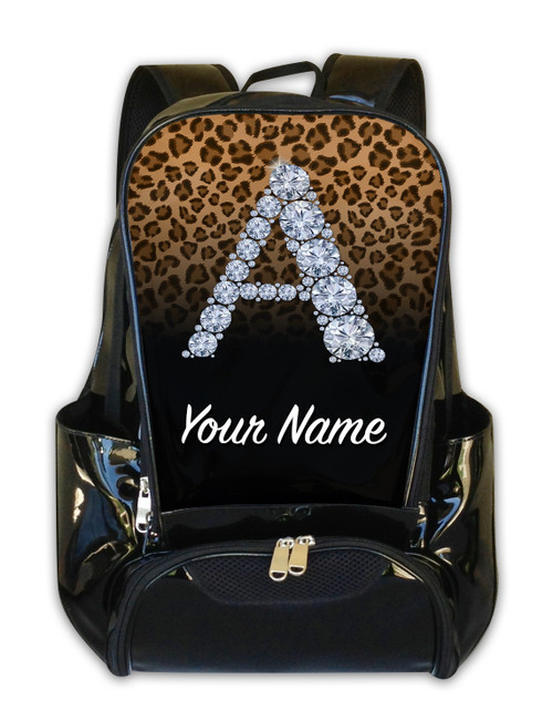 Natural/Black Cheetah Personalized Backpack