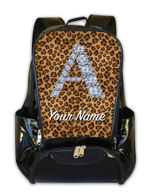 Natural Cheetah Personalized Backpack