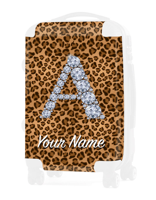 "Natural Cheetah - Graphic Insert for - 24"" Check-in Luggage"