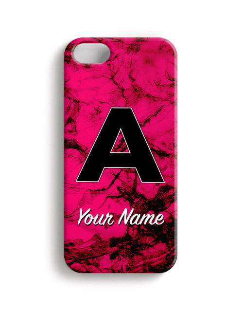 Fuchsia Marble - Phone Snap on Case