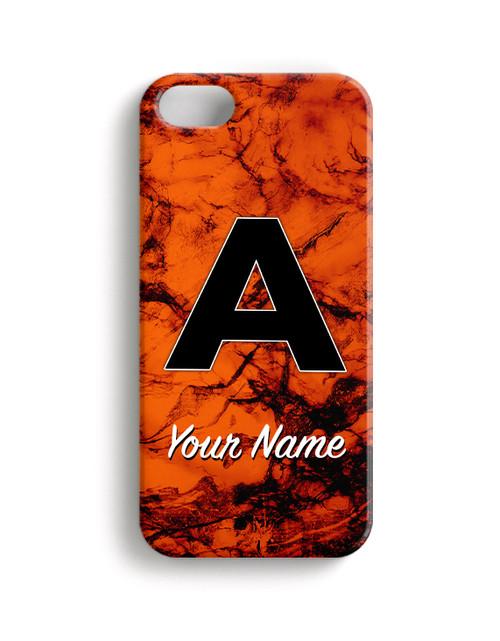 Orange Marble - Phone Snap on Case