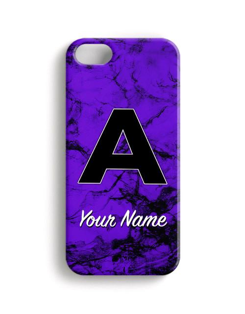 Purple Black Marble - Phone Snap on Case