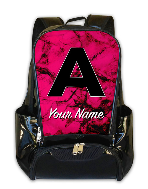 Fuchsia Marble - Personalized Backpack
