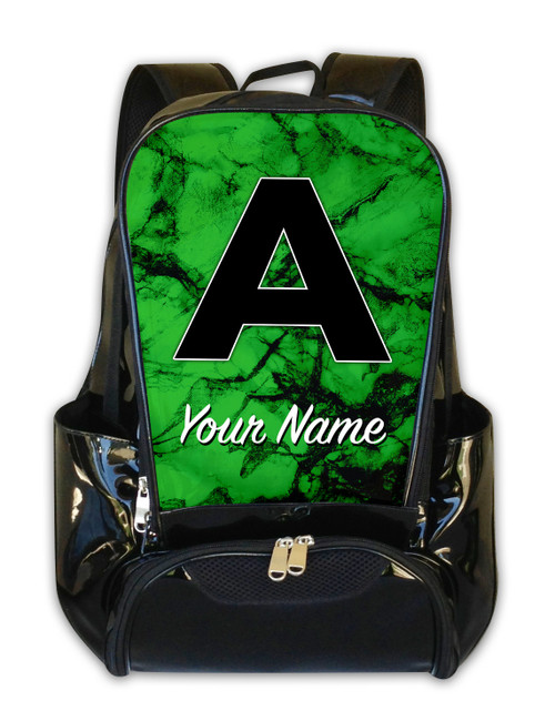 Green Marble - Personalized Backpack