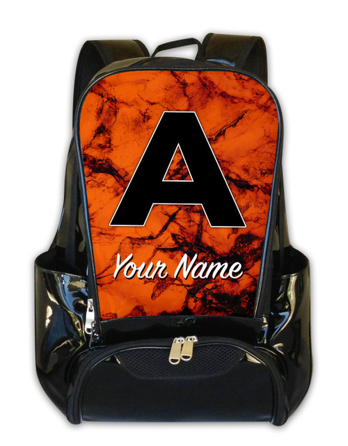 Orange Marble - Personalized Backpack