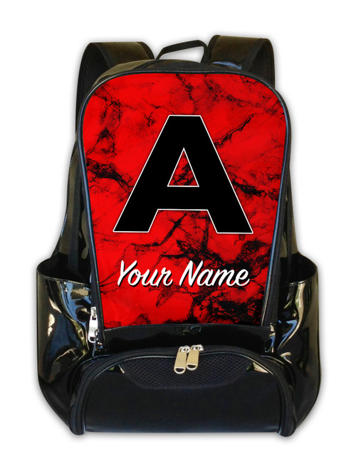 Red Marble - Personalized Backpack