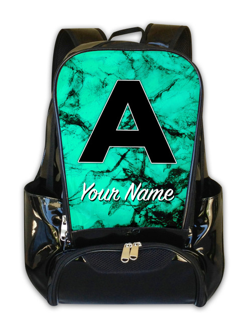 Teal Marble - Personalized Backpack