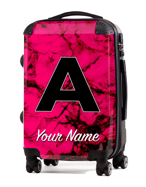 "Fuschia Marble - 20"" Carry-On Luggage"