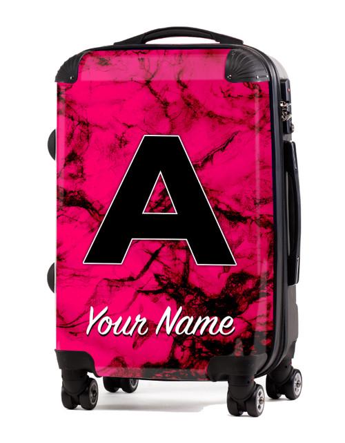 "Fuschia Marble - 24"" Check-in Luggage"