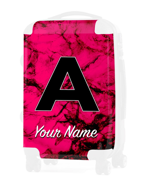 """Fuschia Marble - Graphic Insert for 24"""" Check-in Luggage"""