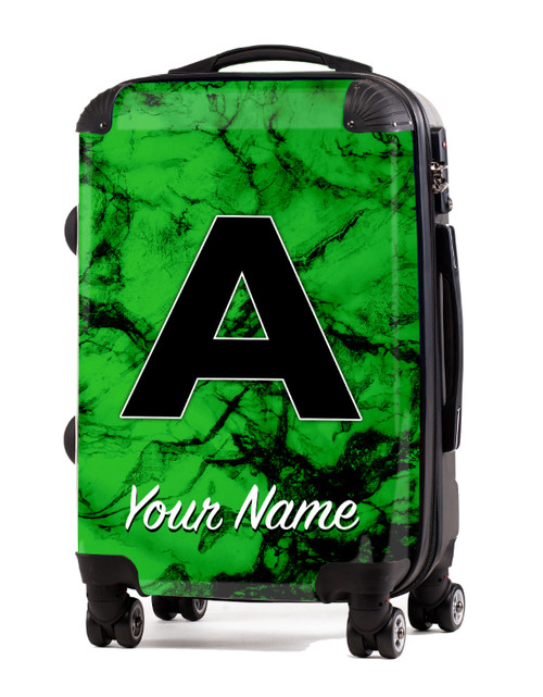 """Green Marble - 24"""" Check-in Luggage"""