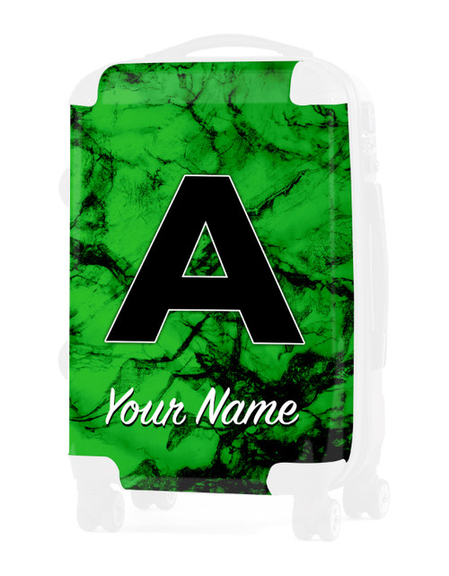 """Green Marble - Graphic Insert for 20"""" Carry-on Luggage"""